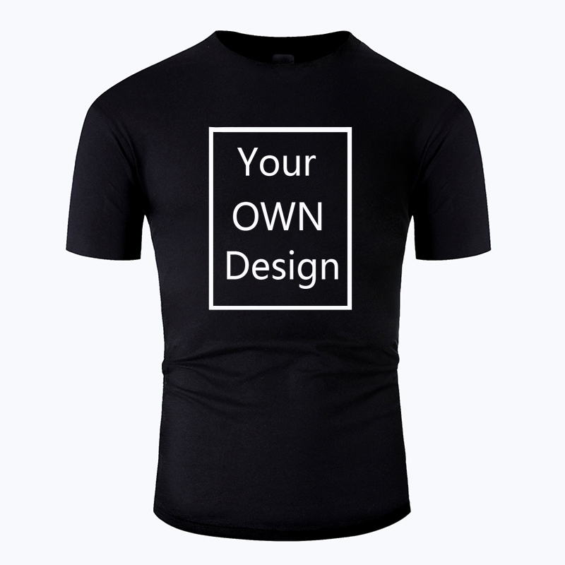 Your OWN Design Logo/Picture Custom Men And Women DIY Cotton T Shirt Short Sleeve Casual T-shirt Tops Clothes Tee