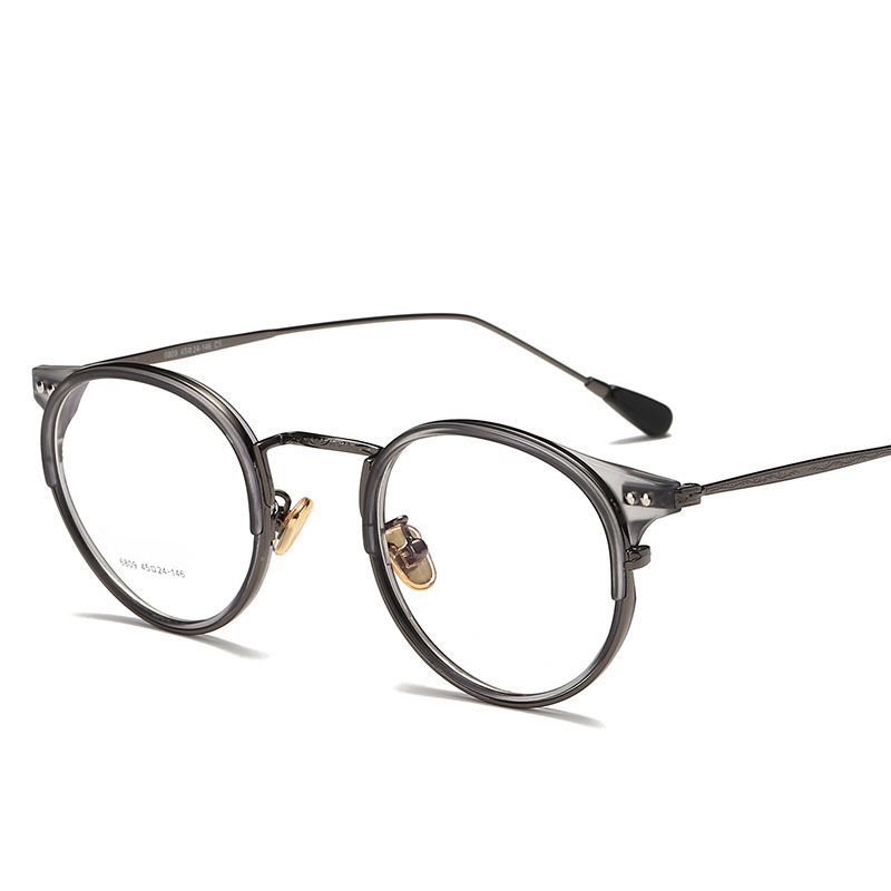 TR90 Vintage Round Glasses Frame Men Women Retro Optical Spectacle Frames Myopia Prescription Eyeglasses Clear Eyewear Oculos