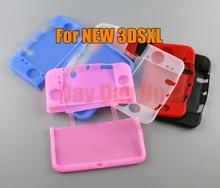 1pcs 5Colors Rubber Soft Silicone Cover Case For Nintendo New 3DS XL LL 3DSXL/3DSLL Console Full Body Protective Skin Shell