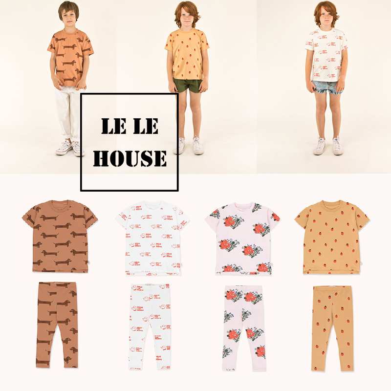 LELE HOUSE 2020 Spring/summer New TC Series Children's Pajama Suit for Boys and Girls