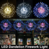 198LEDs RC Dandelion Firework LED Copper Wire Strip String Lights Waterproof Fairy Lights For Wedding Christmas Party Decor