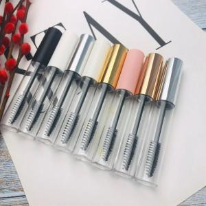 50pcs 100pcs 10ml Empty Mascara Tubes White/Silver/Gold/Black Cap Eyelash Tube Mascara Bottle Cream Cosmetic Packaging Container