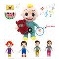JJ Cocomelon Spielzeug Puppe Cocomelon Jj Puppe Singen Kinder Spielzeug für Jungen Cocomelon Schlafengehen Jj Musik Puppe Familie Kind Geschenk anime Plushie