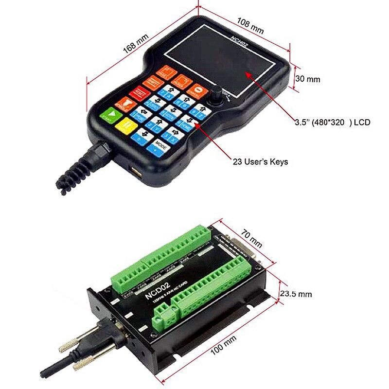 NCD02 3 4 5 Axis DSP ręczna ręczna płyta kontrolera CNC Panel sterowania g-code Offline System sterowania ruchem
