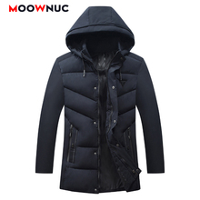 Overcoat Jacket Thick New Windproof Winter Parkas Coats Mens MOOWNUC Hombre Fashion Windbreaker Slim Solid Long Casual