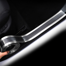 Защитная накладка для двери автомобиля, защитная накладка для бампера, автомобильная наклейка из углеродного волокна, пленка для защиты от столкновений, защита для порога, Стайлинг автомобиля