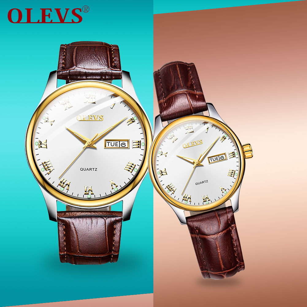 OLEVS Casual Sport 2020 New Sweet Gift Couple Watch Top Brand Luxury Waterproof Watches Auto Date Clocks Relogio