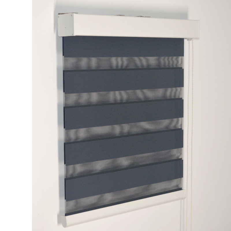 Smart Matters Quality Window Zebra Blinds Shades Blockout Dark Color Opaque Woven Roller Curtains with Beads Bedroom Living Room