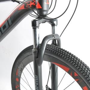 Высокоуглеродистая стальная рама, 21 скоростной велосипед, 29-дюймовый горный велосипед, передний и задний механический дисковый тормоз, бесплатно