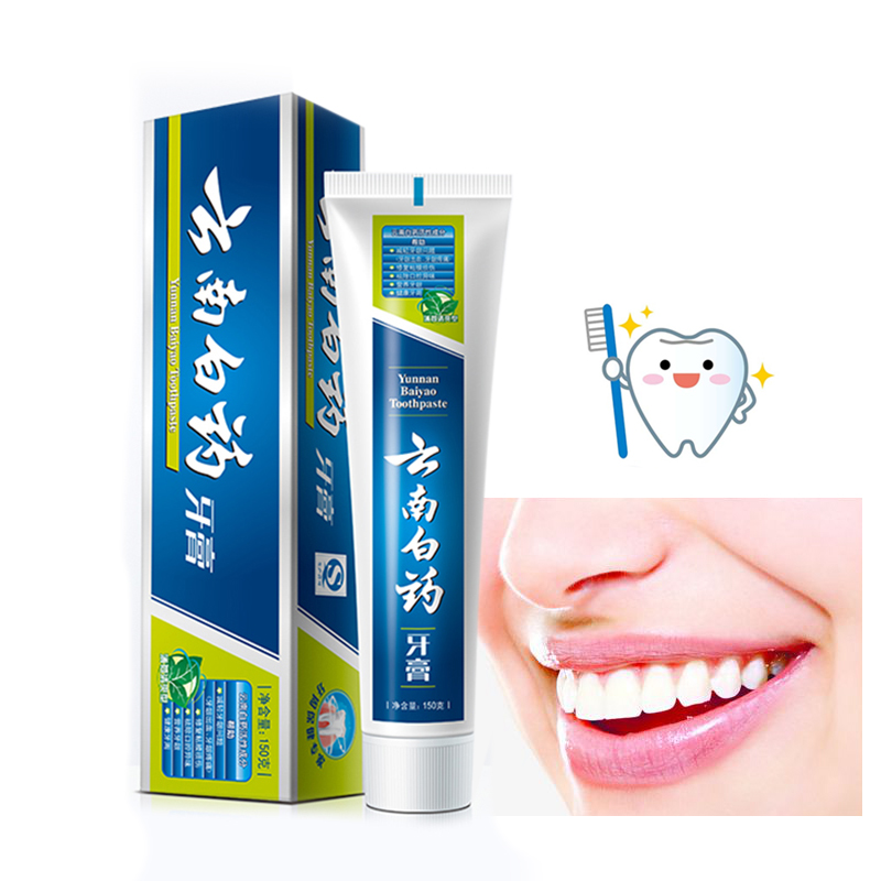 Yunnan Baiyao Antigingivitis Toothpaste  Care Genuine 150g  Chinese Herbal Medicinal Ingredients To Prevent Mouth Ulcers