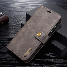 Magnetic Flip Vintage Luxury PU Leather Case For iPhone XS Max X XR 8 7 6 5 SE Wallet Slot Stand Detachable 2 in 1 Card Cover