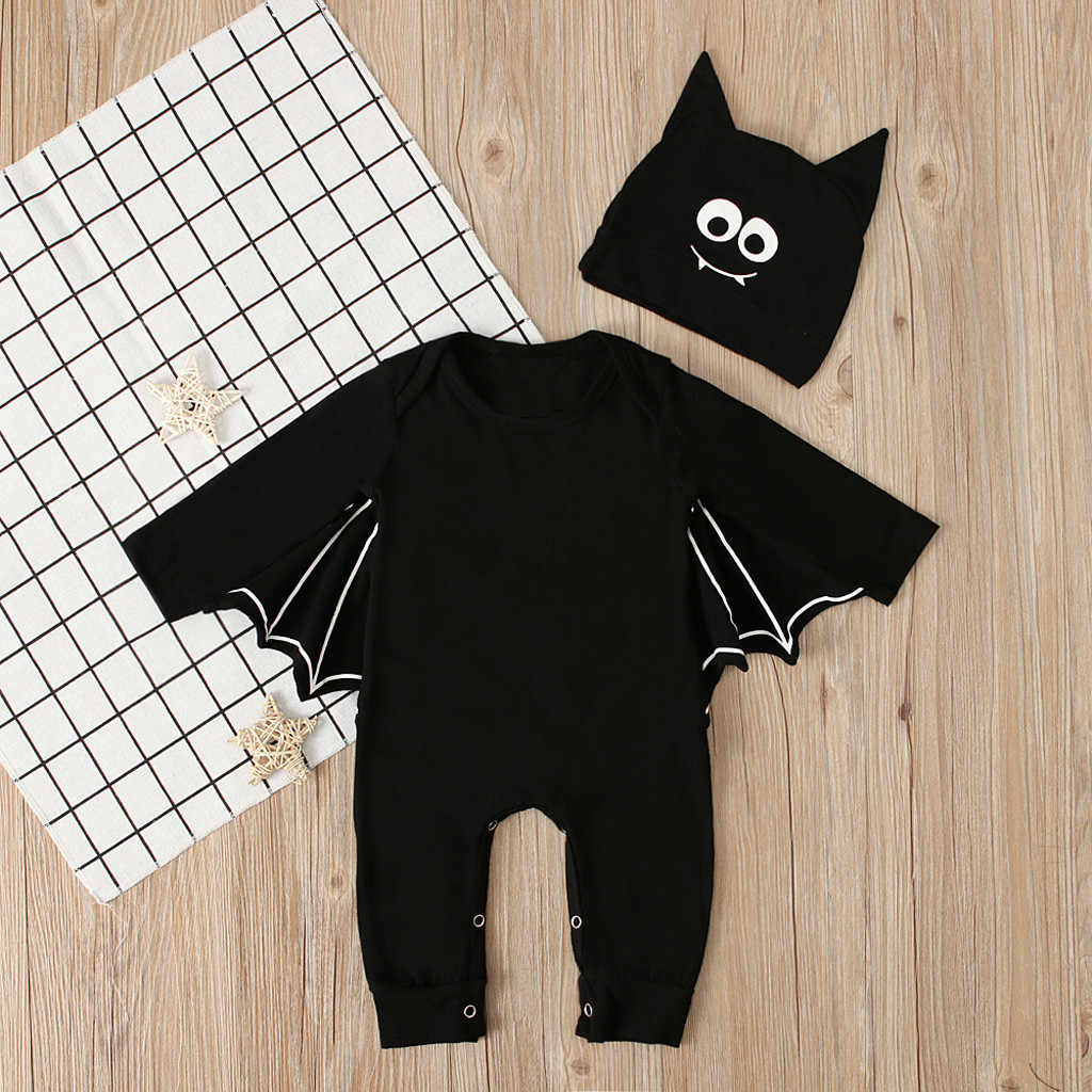Infant Baby Boy Girl Halloween Cosplay Costume Romper Jumpsuits+Hat Outfits Set
