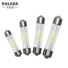 1X Glass Housing COB Filament C5W C10W Festoon 31 36 39 41MM Door Trunk Led For Car License Plate Light Dome Lamp 6000K Bulb 12V