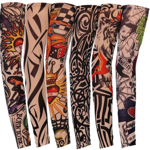 Arm Warmer Unisex Quick Dry UV Protection Outdoor Temporary Fake Running Arm Sleeve Skin Proteive Tattoo Sleeves Stockings