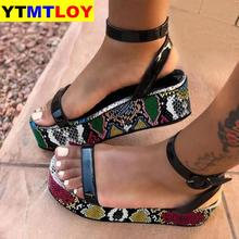 Big Size 34-44 Brand New Luxury Ladies Colorful Wedges Gladiator Sandal