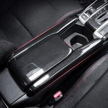 Armlehne Box Schutz Abdeckungen Carbon Fiber Car Zentrale Armlehne Dekorative Modifikation Für Honda Civic 10Th 2016 2017 2018 2019