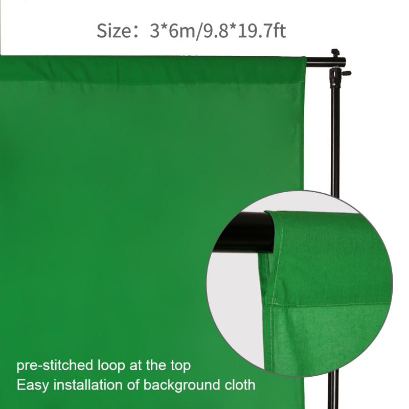 Photography Chromakey Background 100/% Cotton Muslin Video Photo Photography Studio Background 3X6M White