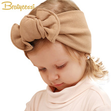 Winter Baby Headband Wide Infant Girl Headbands Birthday Party Headwear Turban Big Bow Hair Accessories 13 Colors