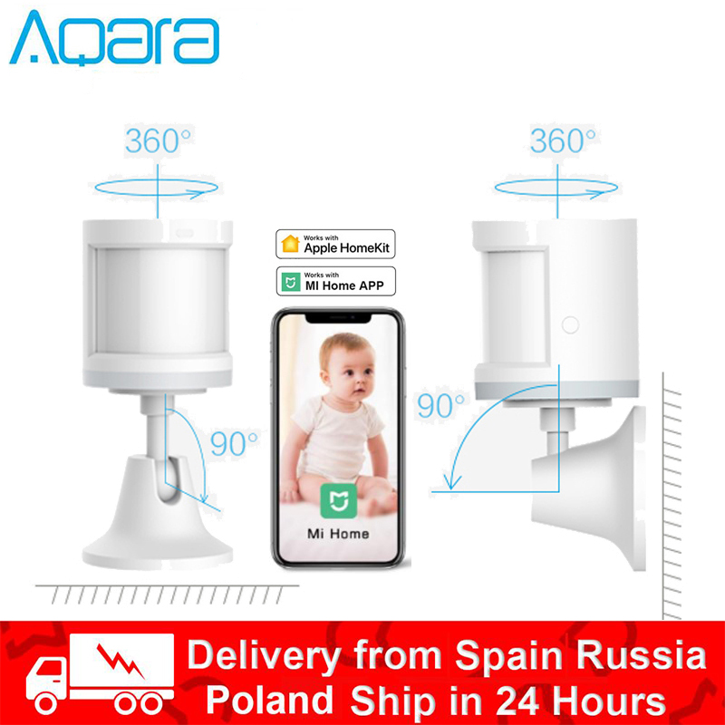 Aqara Human Body Sensor Smart Body Movement Motion Sensor Wireless Zigbee Connection Works With Gateway Hub Work With Mi Home Ap