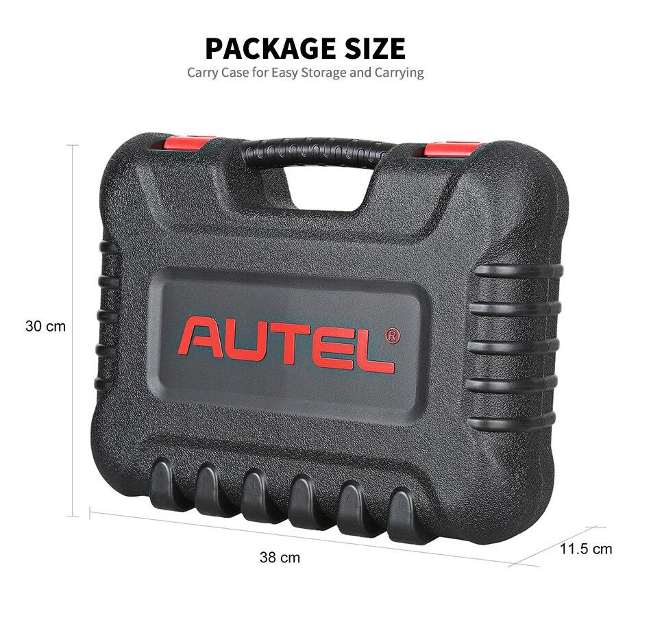 lowest price Autel MaxiCom MK808 OBD2 Scanner OBDII Car Diagnostic Tool Full System Automotivo Scan Tool Key Coding Auto Code Reader PK MX808