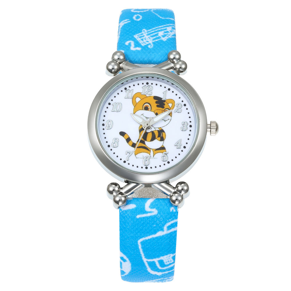 Christmas Kids Gift Cute Little Tiger Girl's Boy's Children Watch Sport Watches Leather Strap Cartoon Watch New Fashion Watches