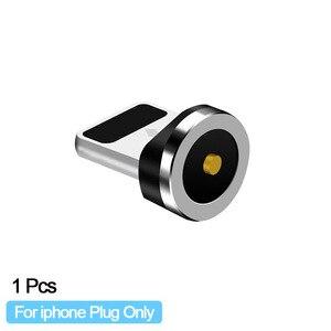 Image 3 - Enchufe de Cable magnético redondo Universal adaptador de Micro USB/Tipo C / 8 pines (solo enchufe magnético) Conector de imán Cabo tapones antipolvo