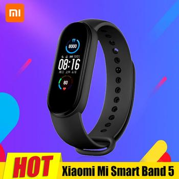 Original Xiaomi Mi Band 5 Smartband Color Touch Screen Miband 5 Wristband Fitness Heart Rate Monitor Sport Waterproof Strap