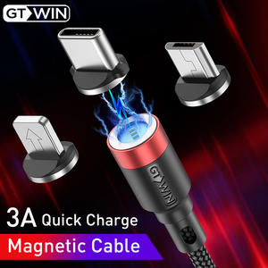 GTWIN 3M Magnetic USB Cable Fast Charging For iPhone 11 Pro Max Micro USB Charger Type