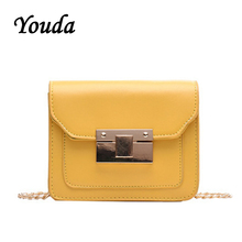 Youda 2019 New Simple Chain Strap Fashion Shoulder Bag Original Retro Solid Color Crossbody Tote Classic Sweet Literary Packet