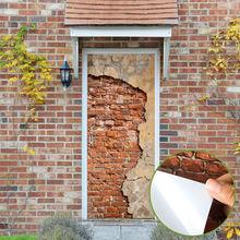 Наклейки на двери «сделай сам» настенные самоклеящиеся кирпичные