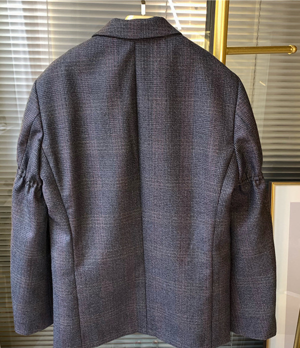 Frauen Wolle Plaid Blazer Mantel Einreiher Büro Dame Jacke Mantel mit Taschen 2019 Herbst Winter Neue - 6