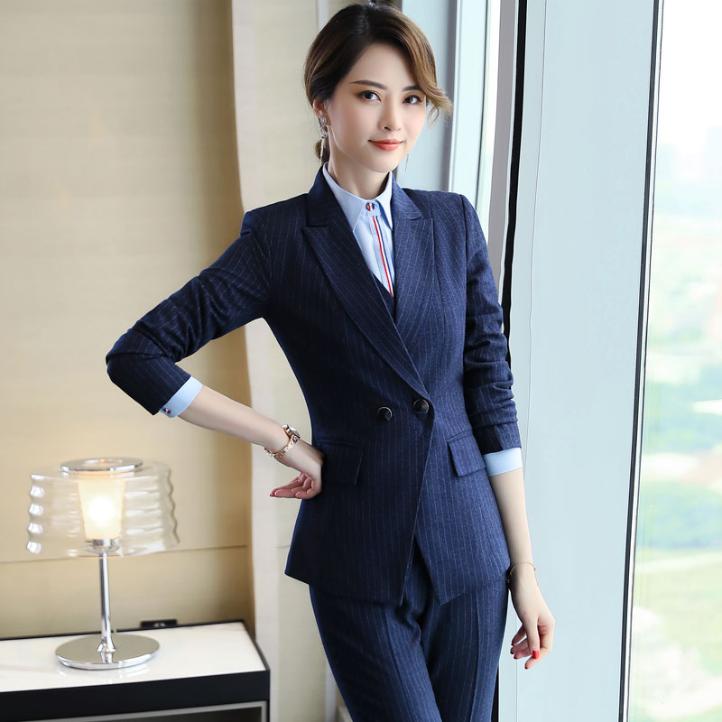 women's office set of blazer and pant or skirt more size S~5xl ladies work wear