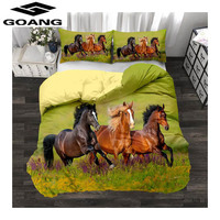 GOANG Theme hotel bedding sets bed sheet duvet cover and pillowcase luxury home textiles 3d digital printing horse running