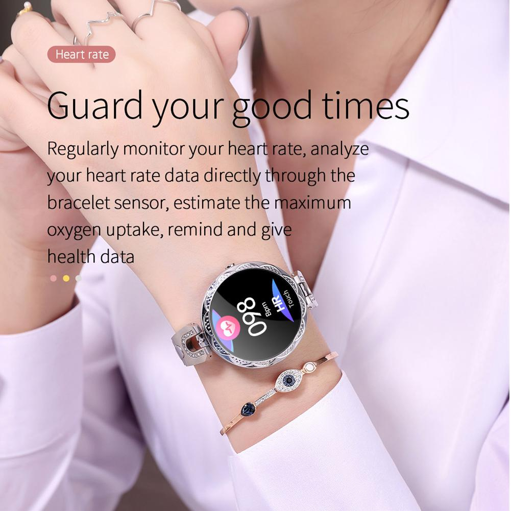 Women Lady Fitness Tracker Bracelet Heart Rate Monitor Bluetooth Smart Watch Phone Mate for Android iPhone Samsung LG Pakistan