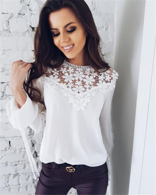 New Spring and Summer Lace Chiffon Shirt