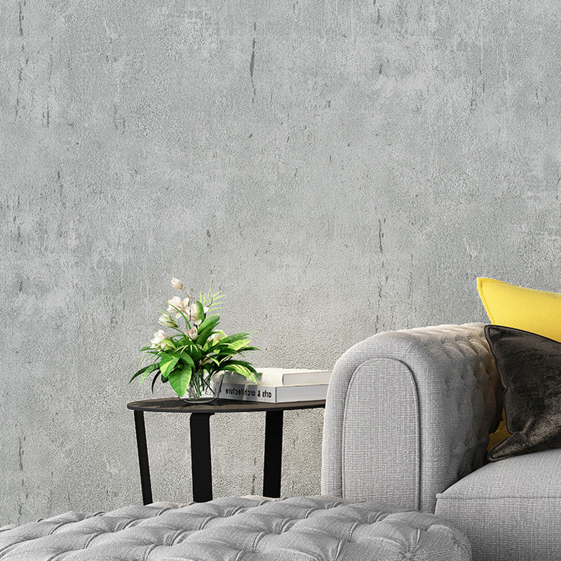 Image 2 - Vintage Industrial Plain Solid Wallpaper For Home Decor Embossed Faux Concrete Walls Gray Color Wall paper Rolls For Cloth Shop-in Wallpapers from Home Improvement