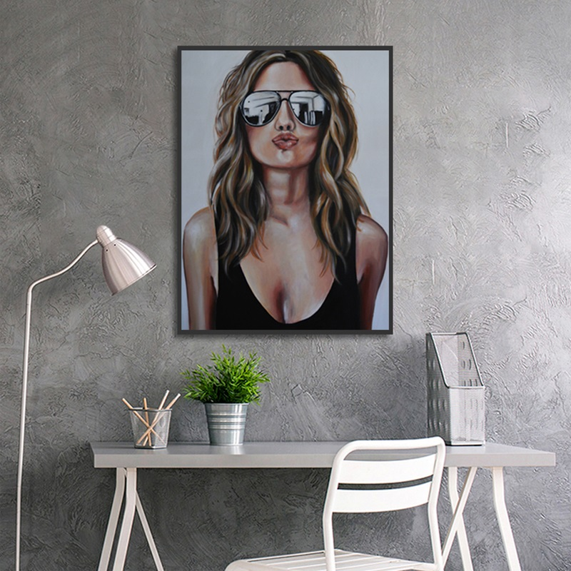 Fashion Girl Character Avatar Poster Art Print Beautiful Canvas Painting Picture Home Wall Art Aisle Bedroom Decoration Custom in Painting Calligraphy from Home Garden