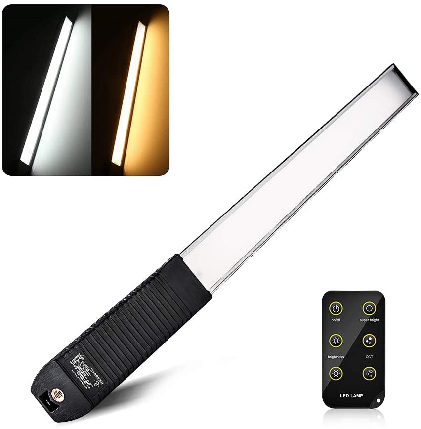 LUXCEO Q508S Bi-color 3000K/5750K LED Video Light Wand Tube Photo Lighting Brightness 1000LM 6-Levels for Photography shooting