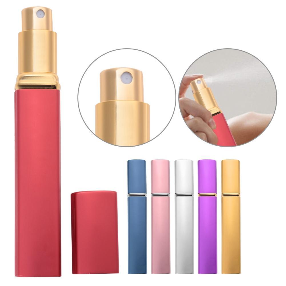 12ml Travel Mini Portable Aluminum Empty Perfume Bottle Glass Pump Spray Refillable Bottle Case Atomiser