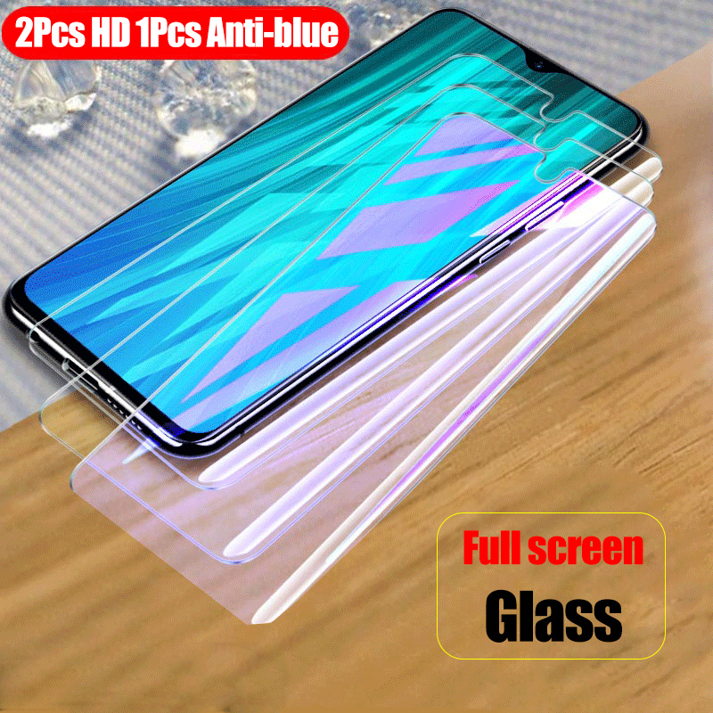 3Pcs Full Tempered Glass For Xiaomi Redmi Note 8 Pro Screen Protector 9H Anti Blu-ray Toughened Glass For Redmi Note 8 Pro