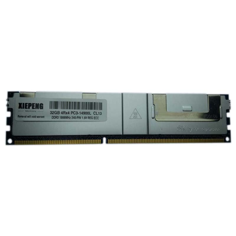 Server memory 32GB 4Rx4 PC3L-14900 Registered <font><b>ECC</b></font> RAM <font><b>DDR3</b></font> 16GB <font><b>1866MHz</b></font> 4GB PC3 12800 for Dell Precision Workstation T5610 T7600 image