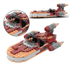 MOC Space Plan Wars 76271 Luked Speeder Set Spaceship Destroyer Building Blocks Fighter Ship DIY montaż cegieł zabawki prezenty dla dzieci