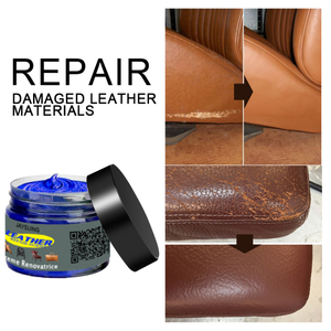50g Leather Repair Kit For Car Seats Sofa Scratch Rips Tares Scuffs Holes Care Coating Leather Cleaner Complementary Color Paste