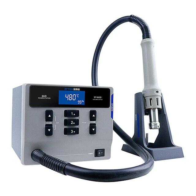 Atten St 862D 1000 1600wホットエアガンデジタルディスプレイbgaリワークステーション自動睡眠携帯電話の修理はんだステーション