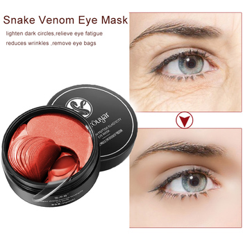 60Pcs Snake Venom Eye Mask Natural Moisturizing Gel Eye Patches Remove Dark Circles Anti Age Bag Eye Wrinkle Skin Care TSLM2 image