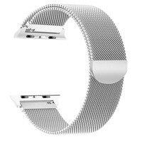 Mode Edelstahl Mesh Gürtel Uhr Band Strap Armband für 42mm/44mm smart watch farbe globale ersatz sport