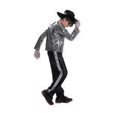 Meninos crianças michael jackson cosplay traje carnaval halloween dancer trajes