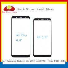 10 sztuk/partia ekran dotykowy do Samsung Galaxy A6 2018 A600 panel dotykowy przednia zewnętrzna szkło obiektywu A6 + A6 Plus A605 ekran dotykowy LCD szkło