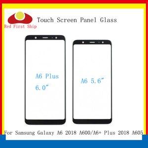 Image 1 - 10 sztuk/partia ekran dotykowy do Samsung Galaxy A6 2018 A600 panel dotykowy przednia zewnętrzna szkło obiektywu A6 + A6 Plus A605 ekran dotykowy LCD szkło