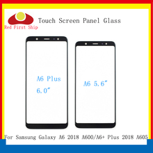 10Pcs/lot Touch Screen For Samsung Galaxy A6 2018 A600 Touch Panel Front Outer Glass Lens A6+ A6 Plus A605 Touchscreen LCD Glass